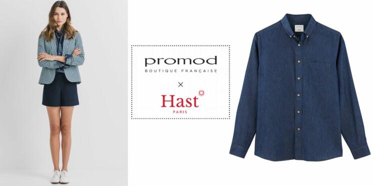 Promod x Hast : une chemise pour deux à la Saint Valentin