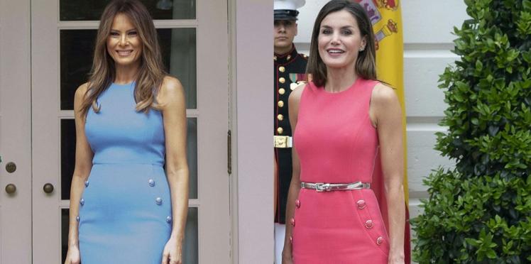 Melania Trump et Letizia d'Espagne s'affichent dans la même robe fourreau : qui la porte le mieux?