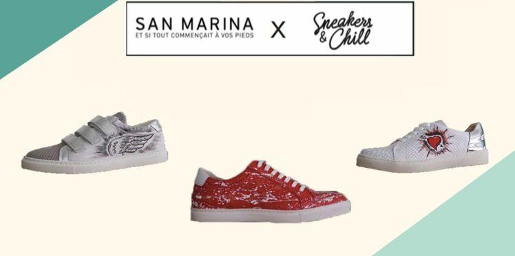 Vous pouvez désormais faire customiser vos baskets chez San Marina