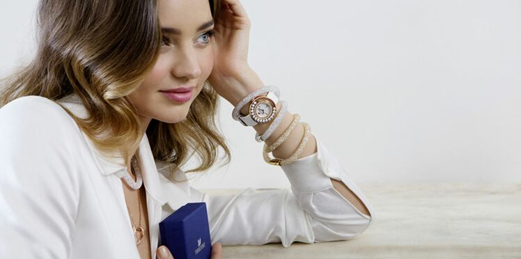 Miranda Kerr, ambassadrice des bijoux Swarovski de cet été