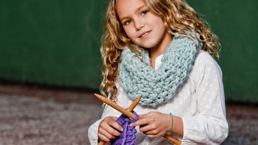 Un kit à tricoter pour enfant