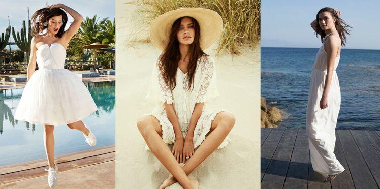 15 façons de porter la petite robe blanche cet été