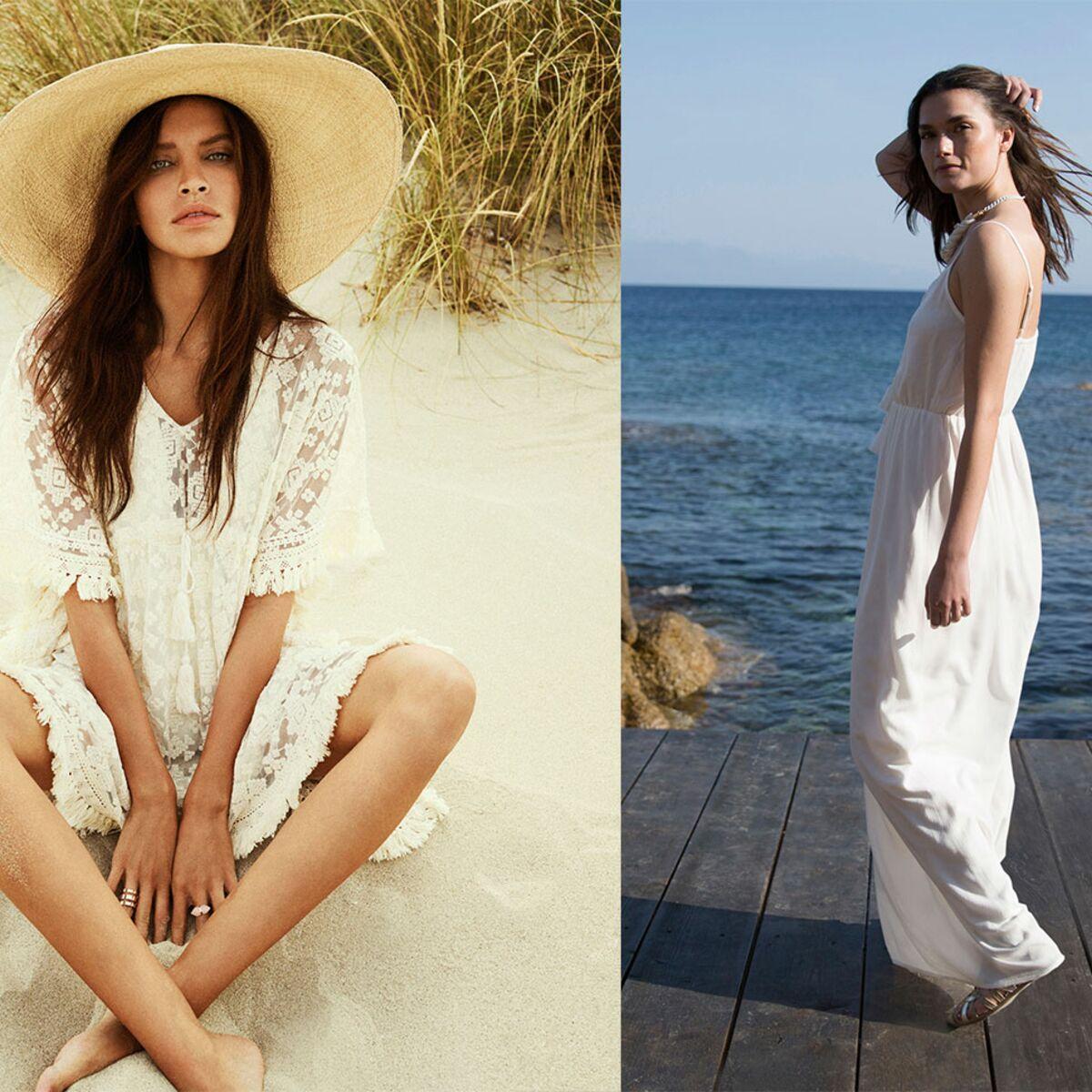 15 façons de porter la petite robe blanche cet été : Femme