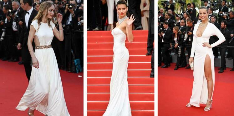 Cannes : les stars sont toutes en robe blanche pour le festival