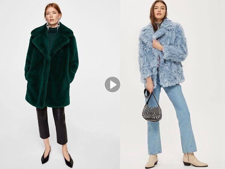 Comment bien porter le manteau en fausse fourrure   Conseils et shopping  tout en douceur   Femme Actuelle Le MAG 5817e8b2c1e