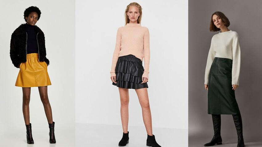 15 jupes en cuir ou effet cuir pour être chic à tout prix
