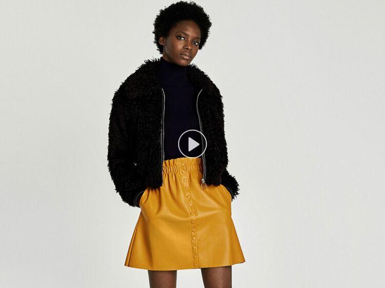 67d6b0331 15 jupes en cuir ou effet cuir pour être chic à tout prix : Femme ...