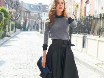 comment porter la jupe en hiver en 10 looks femme actuelle le mag. Black Bedroom Furniture Sets. Home Design Ideas
