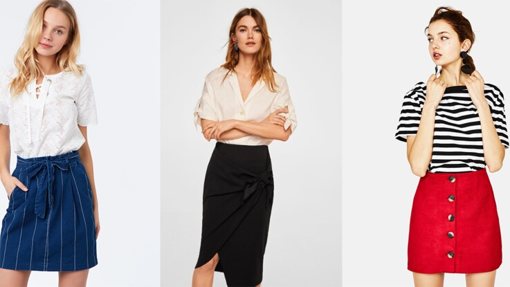 5a29e44d101 25 jupes à moins de 30 euros pour être tendance à petit prix   Femme ...