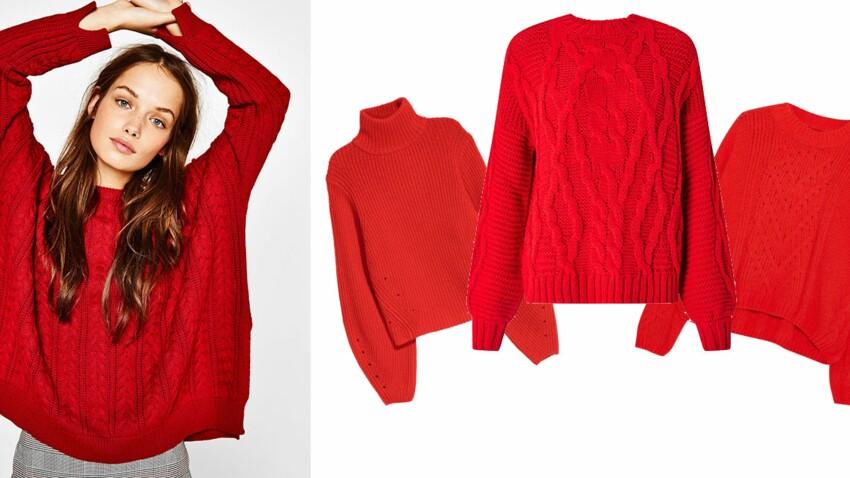 Le pull rouge, must have de l'automne 2017 : nos 10 modèles préférés