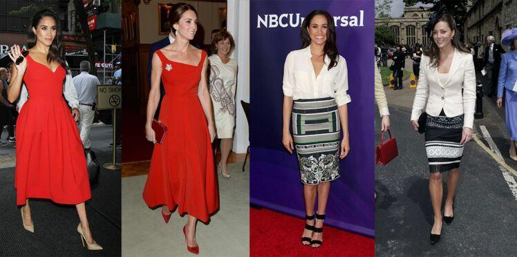 Meghan Markle et Kate Middleton : deux femmes, un style royal ! À découvrir en images avec leur looks copiés-collés