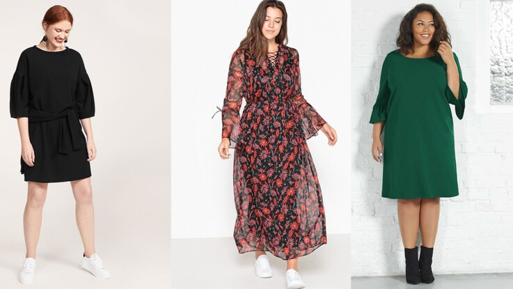 Mode ronde   15 robes d hiver pour sublimer vos formes   Femme ... 3434b683cb0