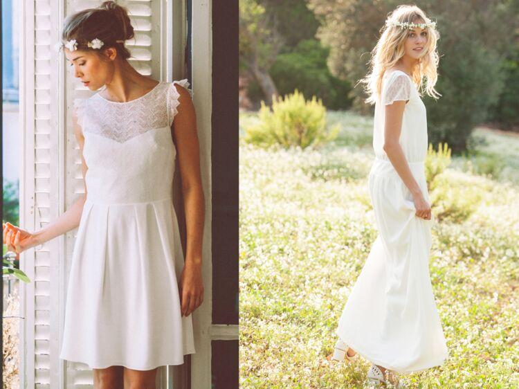 1860dbf8e3f Robe blanche   25 idées pour un mariage à prix doux   Femme Actuelle Le MAG