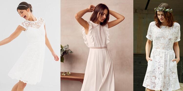 fdeeb4fc2b5 Robe blanche   25 idées chic pour un mariage à prix doux   Femme ...