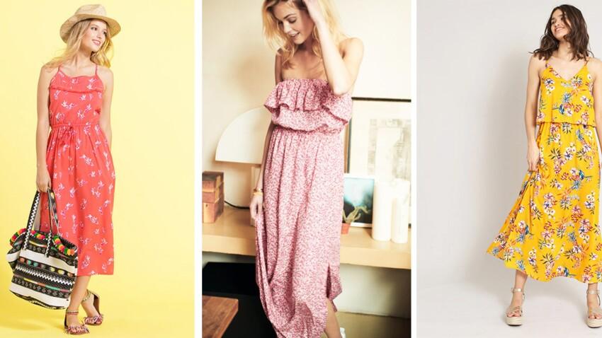 Robes longues à fleurs : 20 nouveautés à tout petit prix