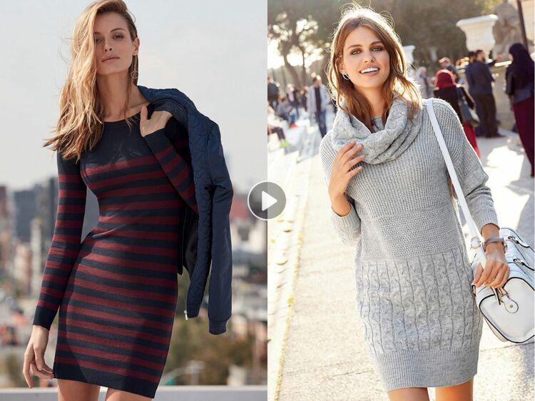 15 robes pull pour mettre son indispensable à l heure d hiver   Femme  Actuelle Le MAG 7d873d57345b