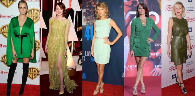 Robe verte : le leçon de mode des stars