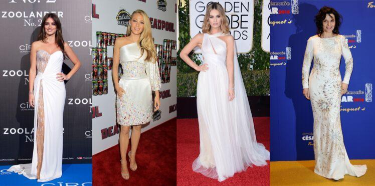 Les stars en robe blanche