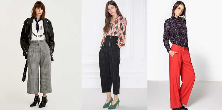 013c7928dc77 Pantalon large   20 modèles au top pour adopter la tendance   Femme ...