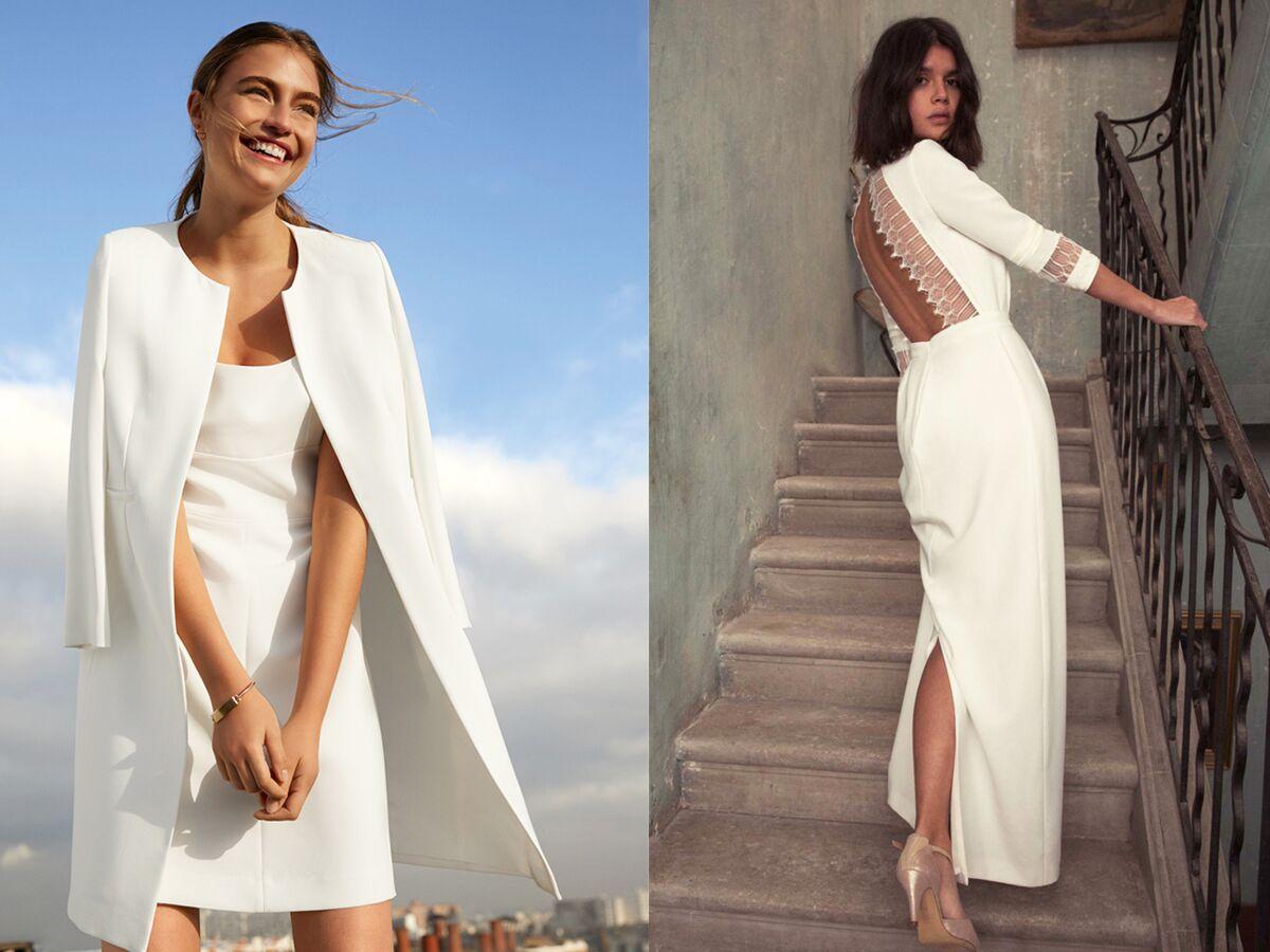 Robe Blanche 35 Modeles Chics Pour Un Mariage A Prix Doux Femme Actuelle Le Mag