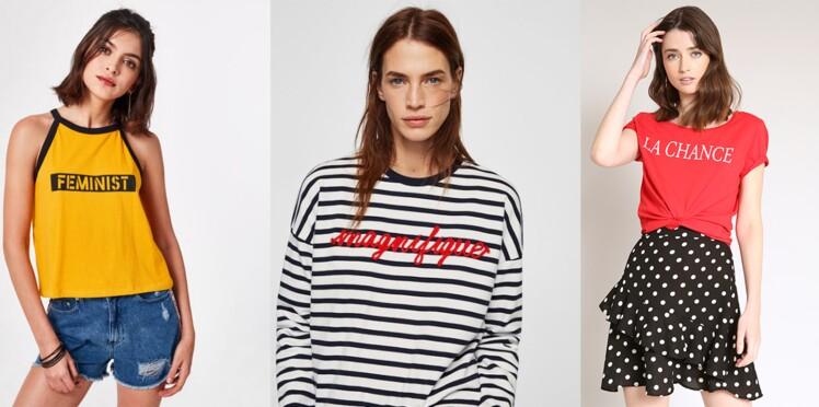 Tops à message : 20 tee-shirts et sweats canons à adopter !