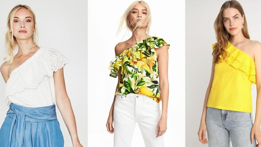 """Top asymétrique : comment porter le """"one shoulder"""" cet été ?"""