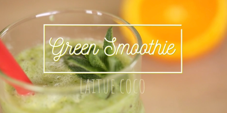 Green smoothie : laitue- coco