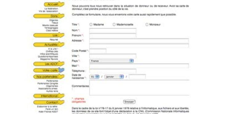 Commandez en ligne votre carte de donneur