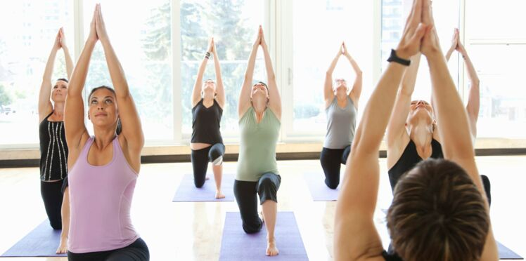 Un cours de yoga organisé par l'association A chacun son Everest !