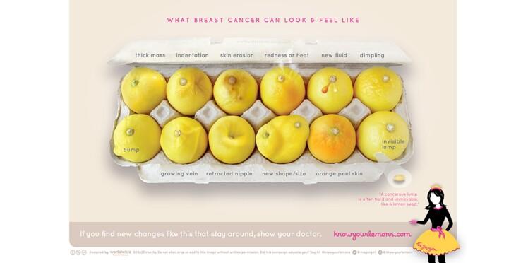 Dépistage du cancer du sein : des citrons pour sensibiliser les femmes