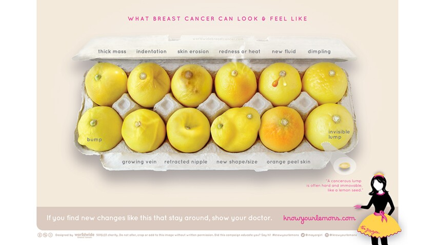 Dépistage du cancer du sein : ces 12 citrons vous aident à identifier les symptômes visibles