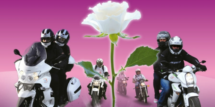 Lutte contre le cancer : quand les motards distribuent des roses