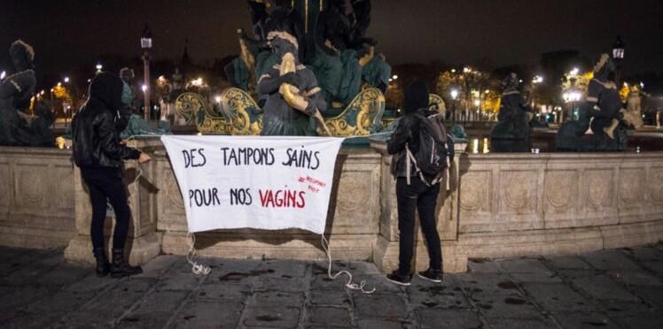 Contre le tabou des règles, une association féministe fait couler du sang à Paris