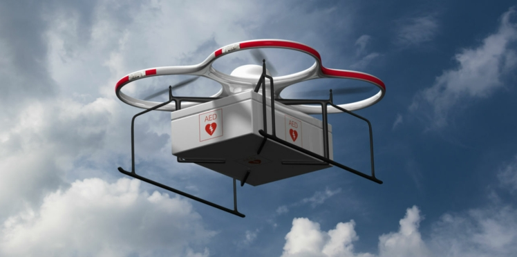 Les drones bientôt utilisés pour secourir les victimes de crise cardiaque ?