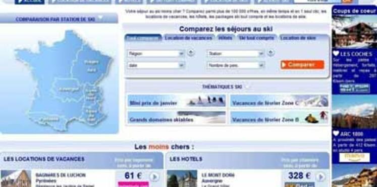 Un nouveau comparateur de séjours de ski sur le Web