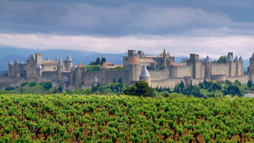Balade sous les remparts de Carcassonne