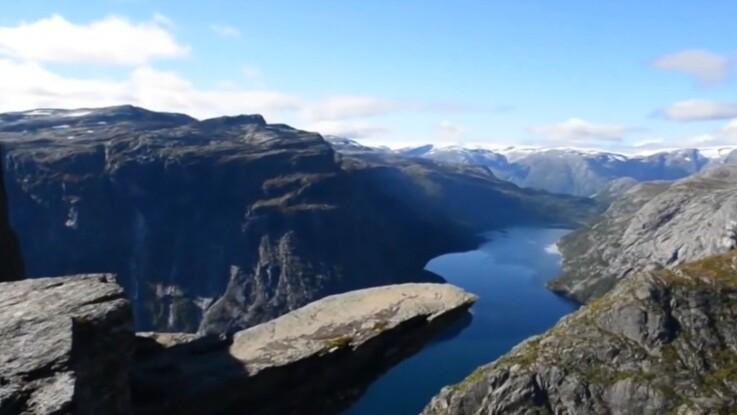 Vidéo : découvrez le rocher de Trolltunga, l'un des plus beaux paysages de Norvège