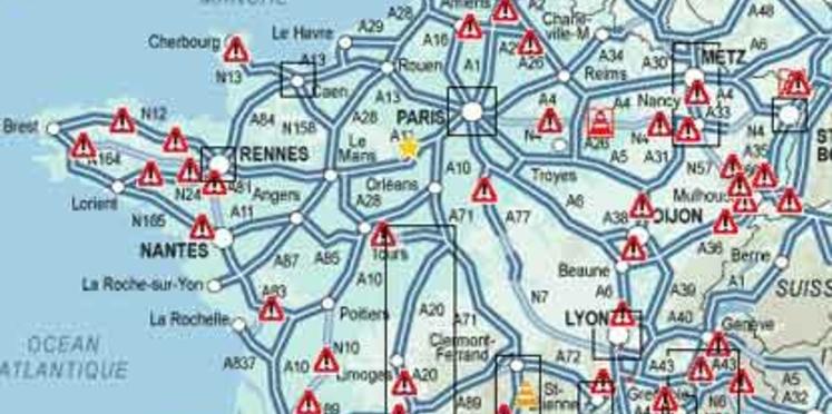 Bison Futé : samedi noir dans les sens des départs et rouge pour les retours
