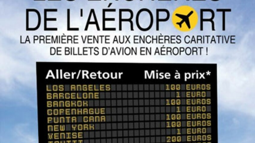 Des billets d'avion vendus aux enchères le 20 juin à Paris