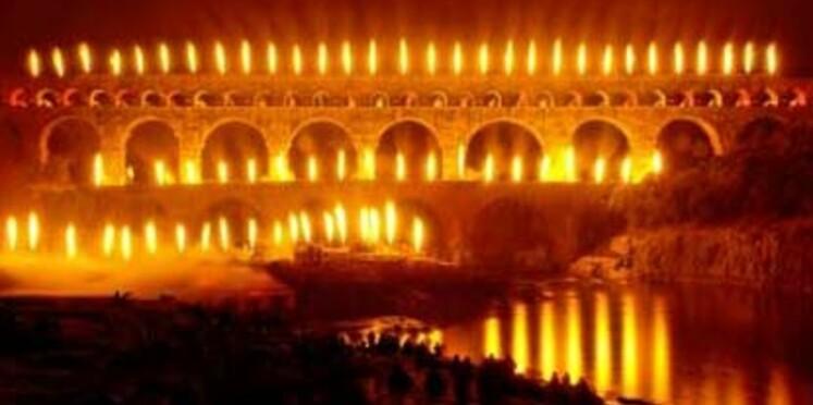 Le Pont du Gard s'embrase en juin