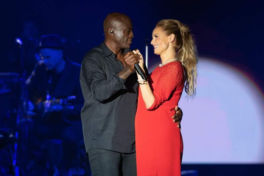 Une belle complicité est née entre l'ex-mannequin et le chanteur
