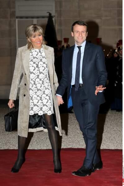 Emmanuel et Brigitte Macron - Mars 2016