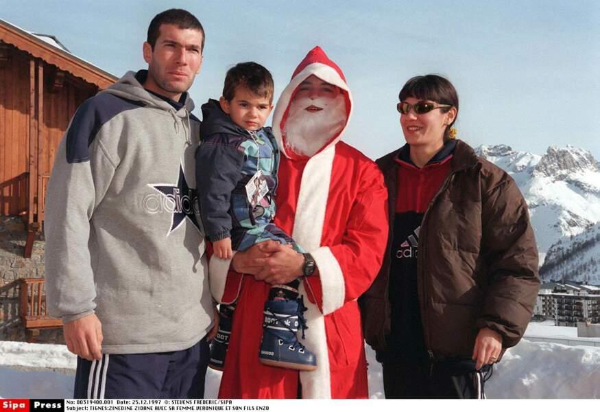 Zinédine Zidane, sa femme Véronique et leur fils Enzo : 1997