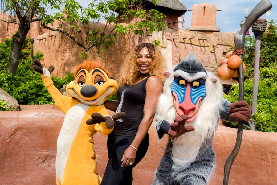 Serena Williams fait honneur à la sortie du nouveau film Le Roi Lion à Disneyland Paris