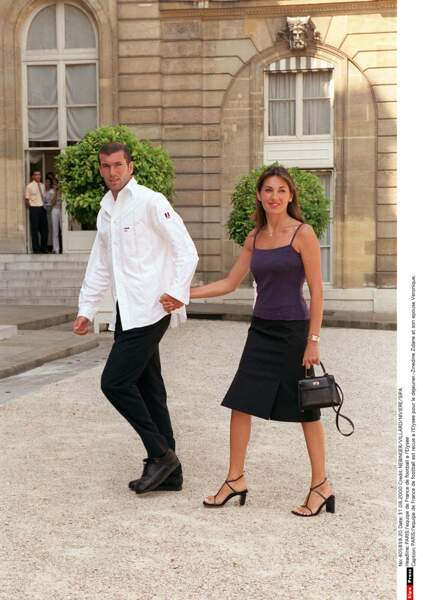 Zinédine Zidane et sa femme Véronique : 2000