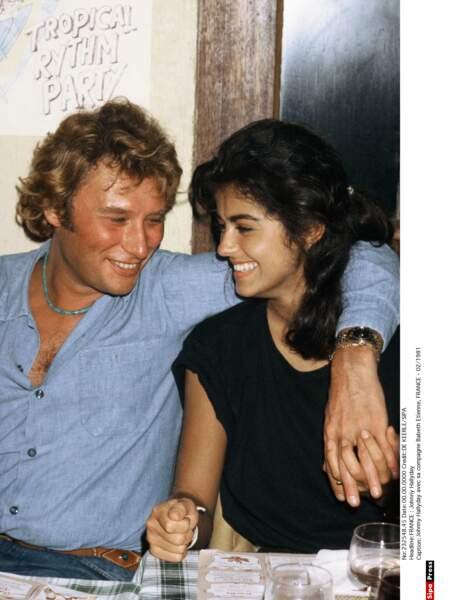 Johnny Hallyday et Babeth Etienne