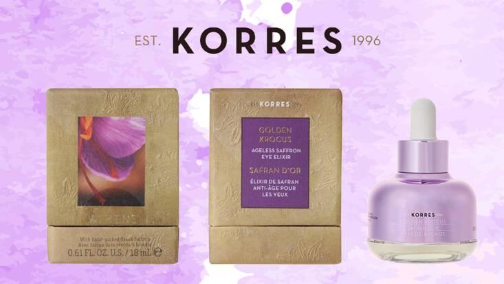 Chez Korres, le Safran est une nouvelle fois d'Or
