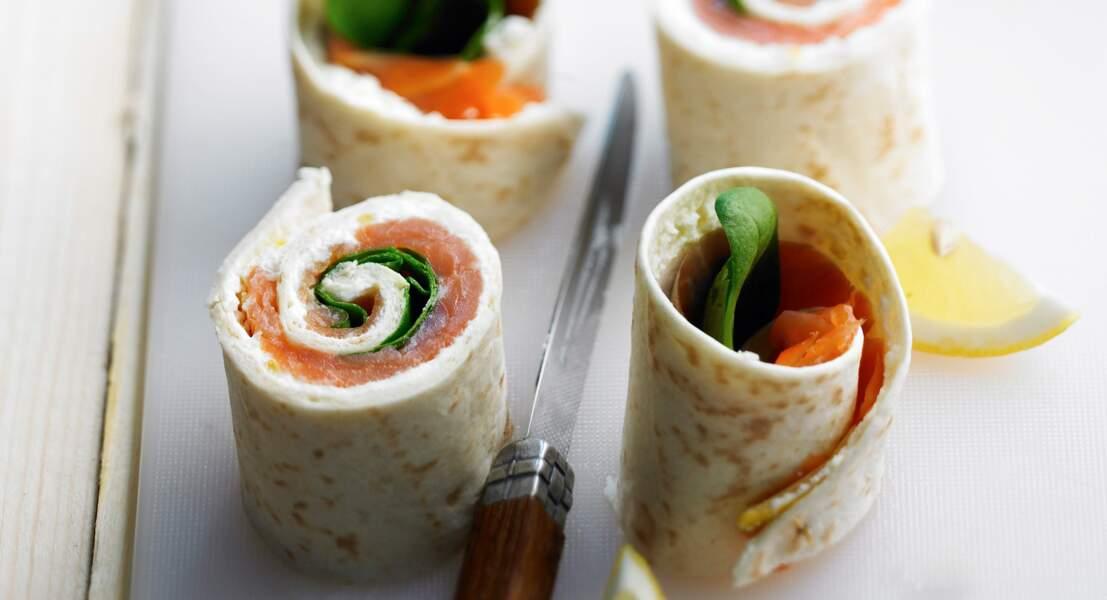 Wrap de saumon