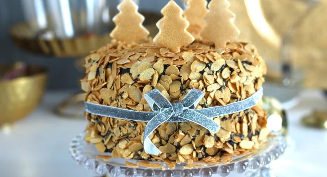 Gâteau en or rempli d'amour