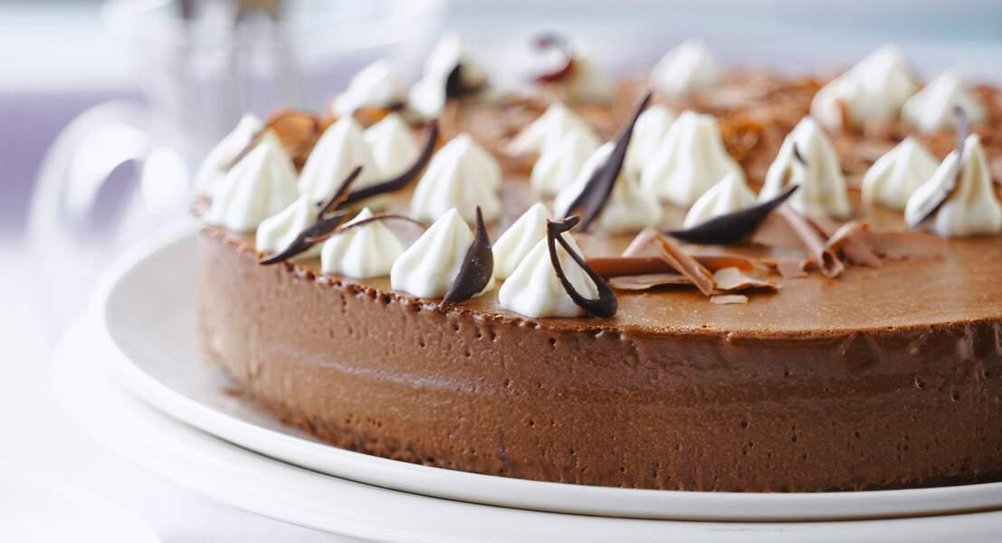 Gâteau de mousse au chocolat